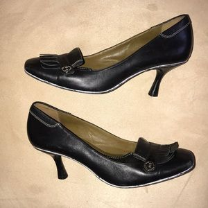 Cole Haan leather heeled loafers